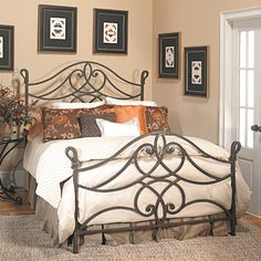 Old Biscayne Florence Antique Wrought Iron Bed – Custom Furniture World