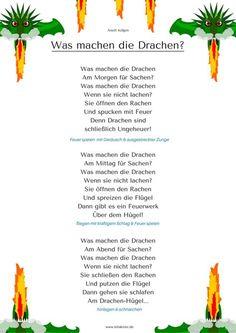 """""""Was machen die Drachen"""" Bewegungs-Gedicht Kindergarten Kitakiste"""