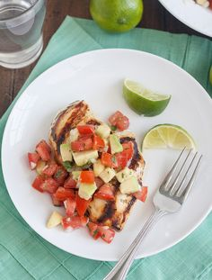 Tracey's Culinary Adventures: Cilantro-Lime Chicken with Avocado Salsa - Avocado Recipes, Paleo Recipes, Mexican Food Recipes, Great Recipes, Dinner Recipes, Cooking Recipes, Favorite Recipes, Cooking Tips, Quesadillas