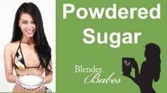 Fresh Powdered Sugar. @BlenderBabes www.blenderbabes.com #vitamix #blendtec #recipe #sugar
