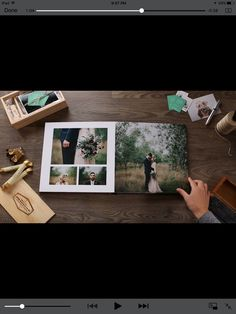 Handmade wedding photo album /princess style gift for girlfriend /new year records Wedding Photo Album Book, Wedding Album Layout, Wedding Album Design, Wedding Book, Wedding Albums, Photo Album Maker, Picture Book Maker, Picture Books, Best Photo Albums