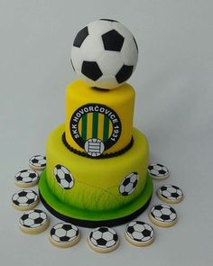 Football cake  (yellow-lime) Football Cakes, Sport Cakes, Lime, Yellow, Desserts, Soccer Cakes, Tailgate Desserts, Limes, Deserts