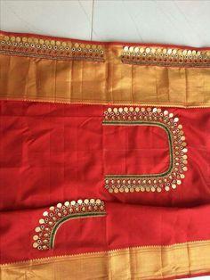 Kasu embellished blouse designs for silk saree - Kasu embellished blouse design. - Kasu embellished blouse designs for silk saree – Kasu embellished blouse designs for silk saree -