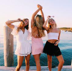 Cute Friend Pictures, Best Friend Photos, Best Friend Goals, Preppy Outfits, Summer Outfits, Cute Outfits, Summer Dresses, Summer Girls, Friend Pictures