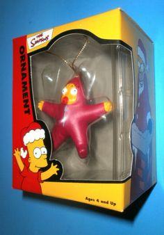 Maggie Simpson Xmas Star Christmas Ornament sMaggie Simpsons Xmas Star Ornamen