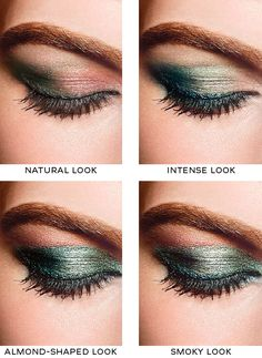 CHANEL Eye Makeup Charts: four ways to wear Chanel Les 4 Ombres