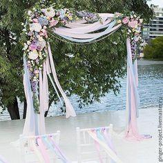 """Купить Оформление свадебной арки """"Пастельная свадьба"""", выездная регистрация - свадебная церемония, свадебная регистрация"""