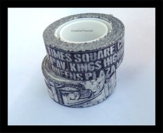 2 WASHI TAPES - NY  City of New York Coney Island Times Square,Tim Holtz tissue tape Craft Supplies, Crafting, Scrapbooking, packaging
