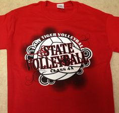 Ozark Lady Tiger State Volleyball shirts