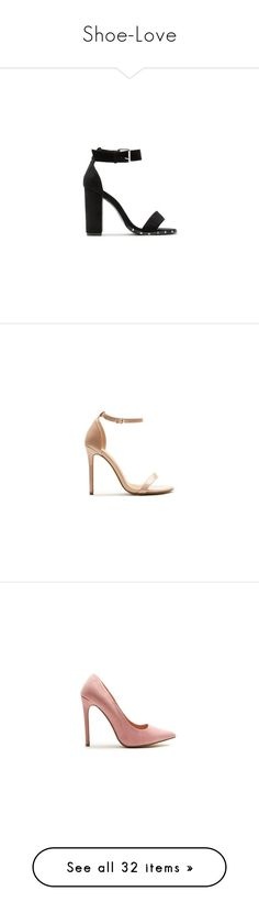 """""""Shoe-Love"""" by miss-pap ❤ liked on Polyvore featuring shoes, pumps, kohl shoes, block heel pumps, block-heel shoes, black shoes, block heel court shoes, patent shoes, patent leather pumps and nude pumps"""