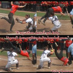 If my uniform doesn't get dirty... softball version (made by froseph25 pic credit Auburn/Opelika News)