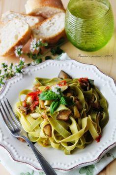 pensieri e pasticci: Paglia e fieno con verdure al forno, ricetta di Csaba
