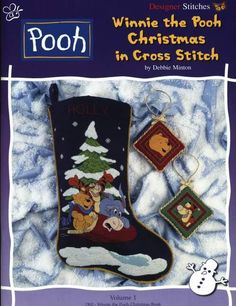 Winnie the Pooh and Gang Christmas Stocking Cross Stitch Christmas Stockings, Cross Stitch Stocking, Christmas Stocking Pattern, Christmas Stocking Holders, Xmas Cross Stitch, Cross Stitch For Kids, Cross Stitch Books, Christmas Cross, Cross Stitching