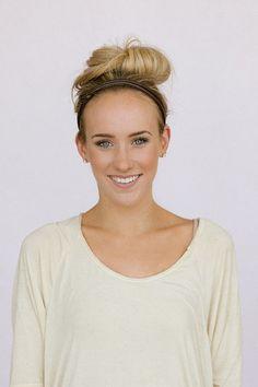 Leather Knotted Headband Women's Fashion Hair by ThreeBirdNest, $10.99