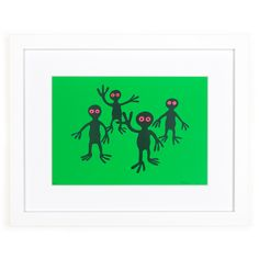 Mini print featuring 'Green Figures' by Nicholas Monro. <br><br>Our mini prints include a white border and title. Fine Art Prints, Framed Prints, Still Life Flowers, Dracula, Monsters, Moose Art, Mini, Green, Shop