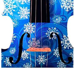 snowflake violin, rozannasviolins, sold with sheet music to FROZEN at guitar center