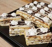 Smetanové Vienetta plátky - to není nic Hungarian Cake, Hungarian Recipes, Hungarian Food, Winter Food, Fun Desserts, Dessert Ideas, Waffles, Cheesecake, Paleo