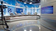 Deutsche-Bank-Studio - texture and shapes. Bühnen Design, Tv Set Design, Stage Set Design, Virtuelles Studio, News Studio, Studio Design, Virtual Studio, Tv Sets, Living Room Tv