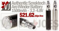 Authentic Smoktech Aro Winder - 1500mAh and 3.2-4.8V