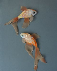 sparkly fish brooch - would make great christmas tree ornaments