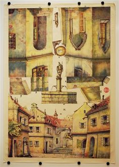 Background & Sides IX. [Bogen 9, Stadt. Münzberg`s Dekorationen für Familientheater für Puppen 18-25 cm]