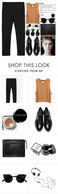 """""""hopefully"""" by evangeline-lily ❤ liked on Polyvore featuring Zara, Bobbi Brown Cosmetics, Burberry, Acne Studios, NYX, AIAIAI, Topshop, zara, acne and BobbiBrown"""