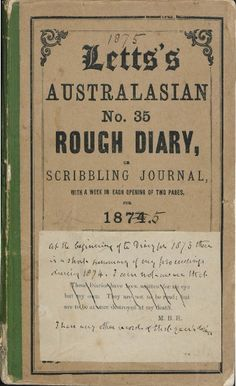 Diary of Bishop Mathew Blagden Hale, 1875.  http://encore.slwa.wa.gov.au/iii/encore/record/C__Rb3627593__Smathew%20blagden__P0%2C11__Orightresult__U__X6?lang=eng&suite=def#attachedMediaSection