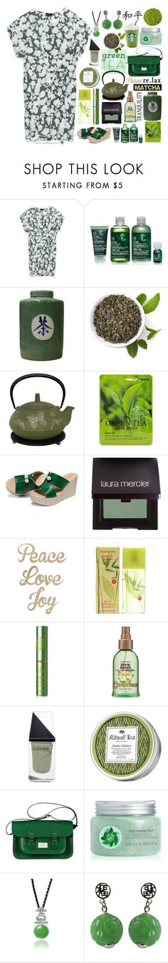 """Matcha: Green Tea Party!"" by curekitty ❤ liked on Polyvore featuring Bobeau, Forever 21, Laura Mercier, Kaiser, Elizabeth Arden, Tata Harper, GUiSHEM, Origins, Kusmi Tea and Fuji"