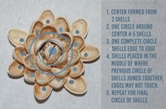 how to make a flower from pistachio nut shells, easy and fun
