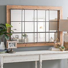 Elegant 12 Pane Window Frame Mirror 40 inches by acrossandbeyond ...