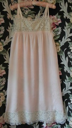 20s Pink Tissue Silk Flapper Nightgown by VintageClothingandCo