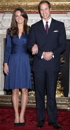 Prince William and Kate Middleton announce their engagement • in 2010
