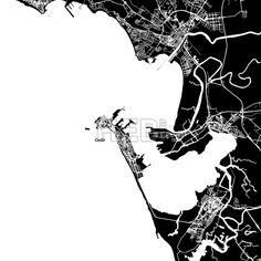 Cádiz Vector Map by #Hebstreit