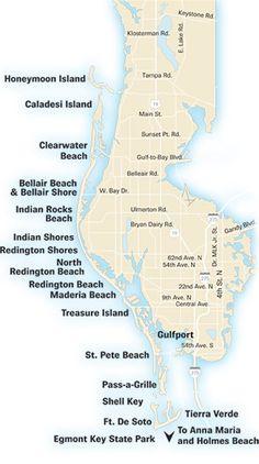 Florida's west coast: Florida's gulf coast beaches.