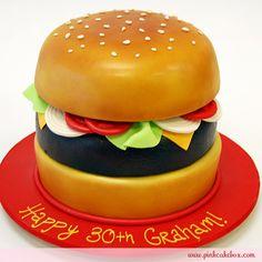 Cheeseburger CAKE! (from pinkcakebox.com)
