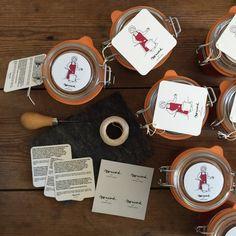 Monicord homemade jams made in Verac, France - packaging - logo - Madame Monicord