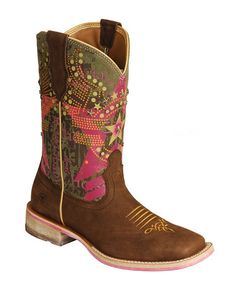 Ariat Rodeobaby Liberty Cowgirl Boots -- Square Toe