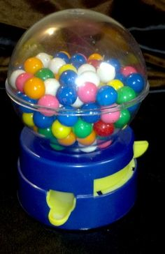 Got nostalgia? Awesome 1980s kids collectible! RARE VINTAGE 80s TOY GUMBALL VENDING MACHINE PLASTIC CANDY VENDOR W/ OLD COINS - on eBay! $19.98