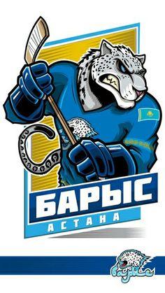 100%™ KHL Astana Barys Nhl Logos, Hockey Logos, Sports Logos, Kontinental Hockey League, Hockey World, Game Logo Design, Atlanta Falcons, Sports Art, Ice Hockey