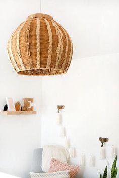 Turn a basket into a pretty pendant.