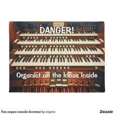 Fun organ console doormat