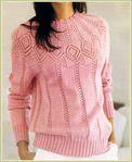 Мобильный LiveInternet розовый пуловер с ажурной круглой кокеткой | Тэтя - Дневник Тэтя |
