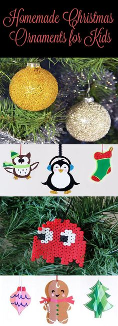 Easy ornaments for kids #crafts #holidays