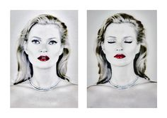 Chris Levine, Diptych of Kate photo londres