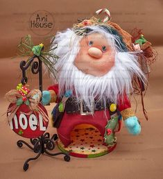 Merry Christmas, Xmas, Christmas Ornaments, Polymer Clay Dolls, Christmas Fabric, Fabric Decor, Beautiful Dolls, Art Dolls, Santa