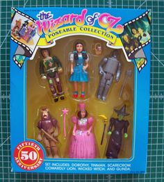 Multi Toys Wizard of Oz 50th Anniversary Poseable Figures Set NRFB