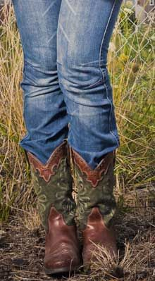 cowgirl boots and jeans. simple life.