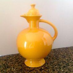 Vintage Homer Laughlin FIESTA Coffee Pot Carafe Pitcher Marigold