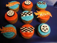 5th Birthday Party Ideas, Boy Birthday Parties, Birthday Fun, Kid Parties, Hot Wheels Cake, Hot Wheels Party, Cupcakes, Cupcake Cakes, Chocolates