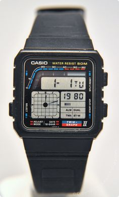 CASIO - AE-22W - DigitalHands. Released in 1988 Vintage Digital Watch - Brought to you courtesy of DigitalWatchLibrary.com